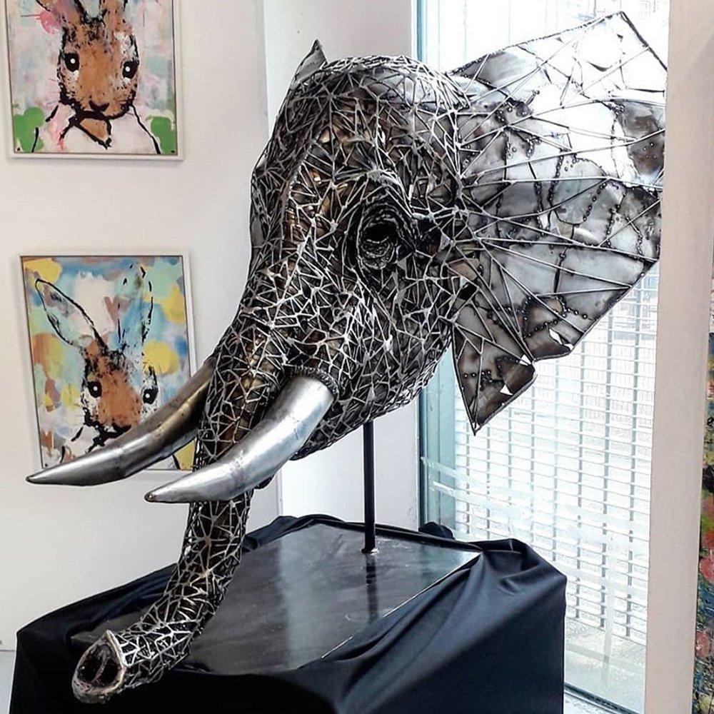 Elephant Head Sculpture Alfie Bradley