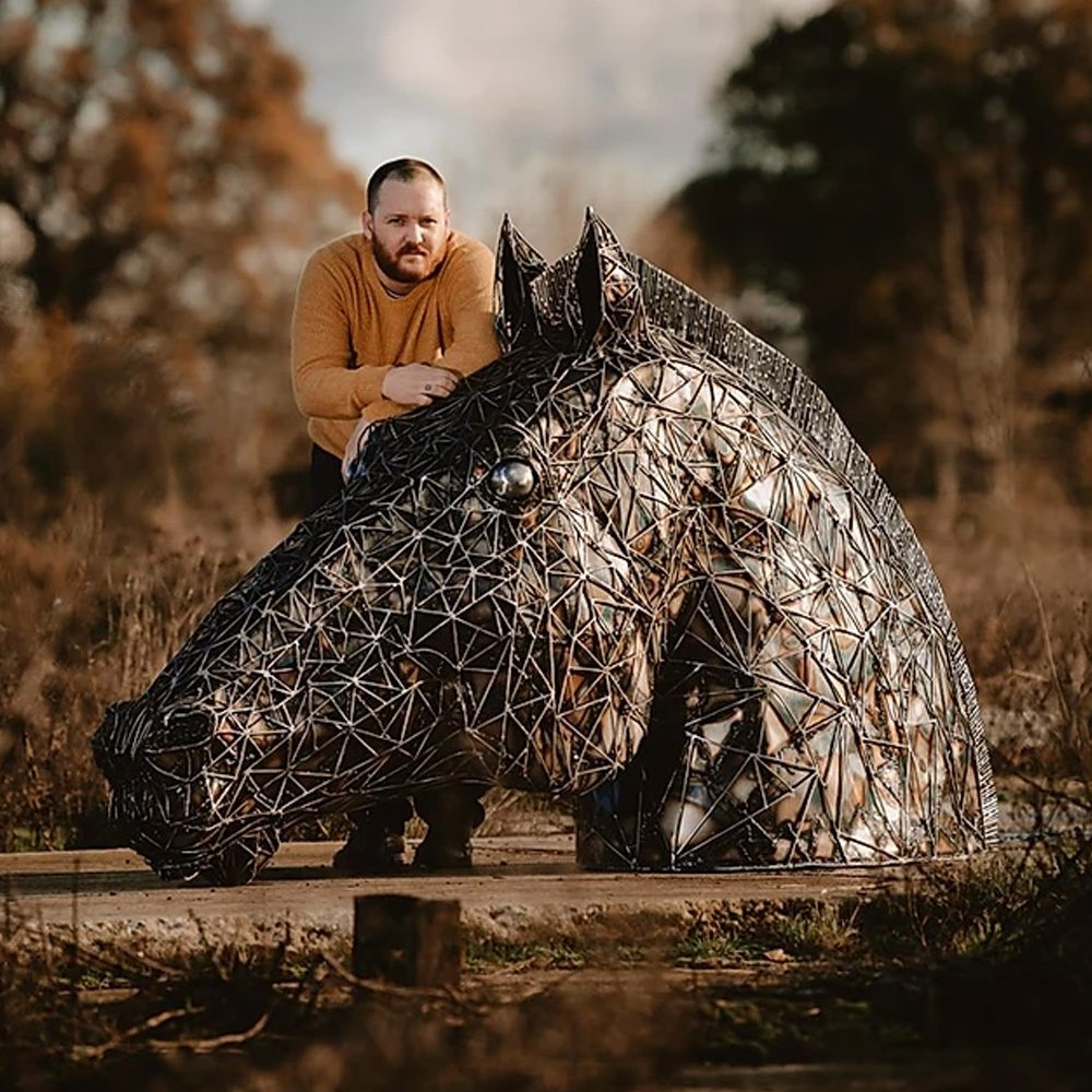 Horse Head Sculpture Alfie Bradley