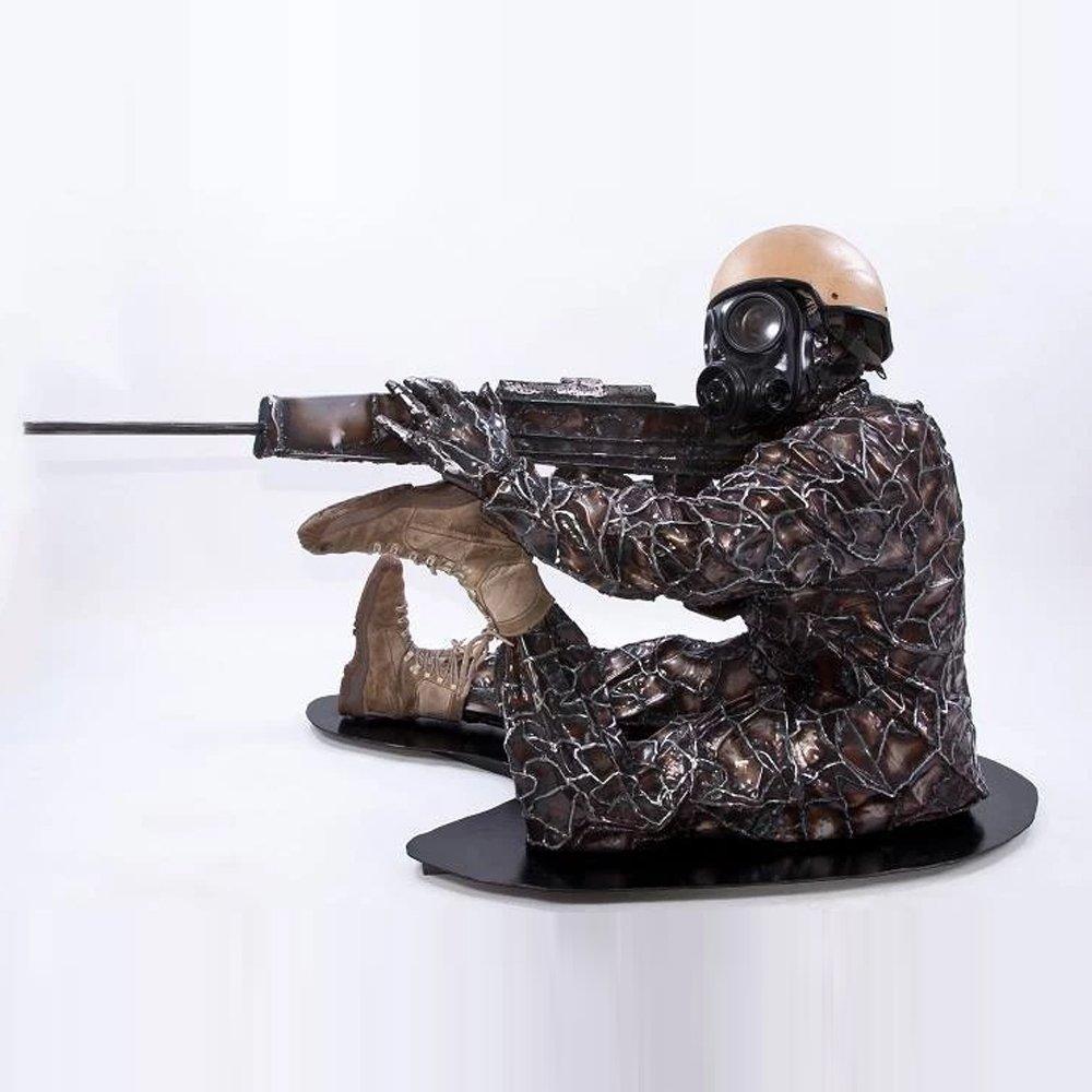 Injured Soldier Sculpture Alfie Bradley